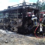 INCENDIAN BUS EN SECTOR RURAL DE COLLIPULLI